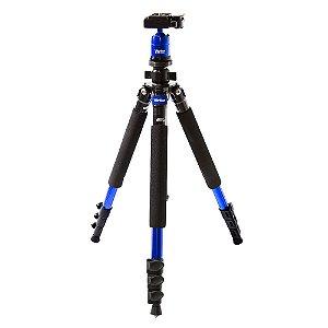 Tripé fotográfico em magnésio com extensão de até 1,57 m azul - VIVMPT600 - Vivitar