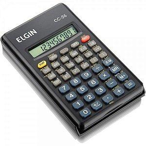 Calculadora Científica 10 Dígitos c/ 56 Funções, Tampa Protetora - CC56 - Elgin