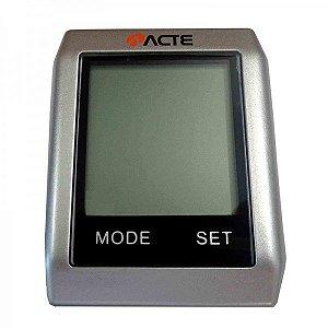 Ciclocomputador Touchscreen Acte Sports Com16 Funções Sem Fio A32 Prata