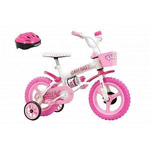 Bicicleta Infantil Aro 12 Track & Bikes Kit Kat, Freio Tambor e Capacete
