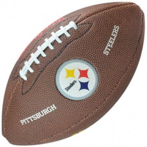Bola de Futebol Americano Wilson NFL Teams Logo Steelers Pittsburg Jr
