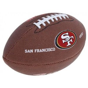 Bola de Futebol Americano Wilson NFL Teams Logo San Fransisco Jr
