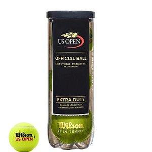 Bola De Tênis Wilson US Open Extra Duty Tubo Com 3 Bolas