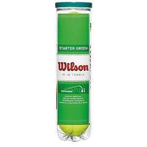 Bola de Tênis Wilson Starter Play Green Balls Tubo com 4 Bolas