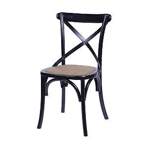 Cadeira Cross Madeira Preta - Or Design
