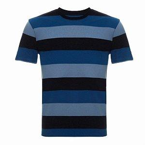 Camiseta Aleatory Listrada Lovable Azul