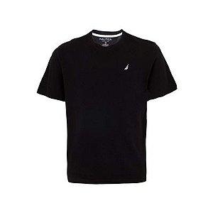 Camiseta Nautica Masculino Preta