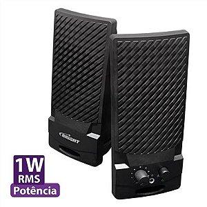 Caixa de Som Multimídia USB 0058 Preto / Prata - Bright