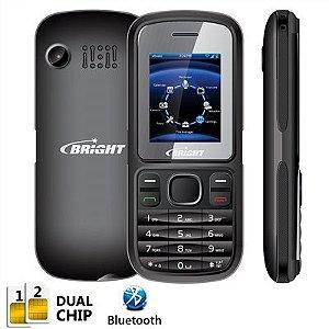 Celular One Dual Chip c/câmera, Rádio FM, Bluetooth, Preto 0405 - Bright