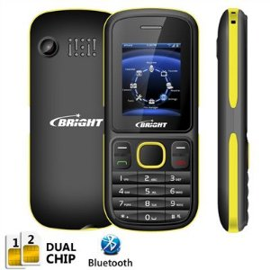 Celular One Dual Chip c/câmera, Rádio FM, Bluetooth, Amarelo e Preto 0418 - Bright
