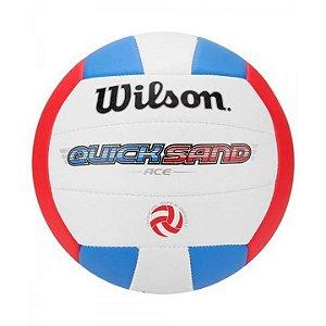 Bola de Vôlei Wilson Quicksand ACE Vermelha e Azul
