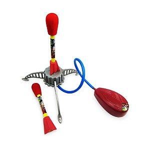 Lança Foguete de Borracha Pisa e Voa Vingadores - Toyng