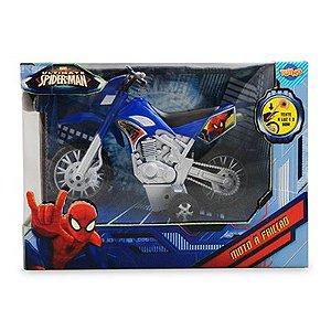 Moto Fricção com Luz e Som Homem Aranha - Toyng