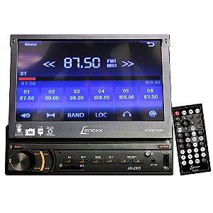 """Auto Rádio FM com Tela de 7"""" Retrátil Touchscreen USB, SD, MP4, MP3 e Entrada Auxiliar - Lenoxx"""