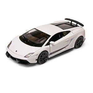 Carrinho Super Marcas Lamborghini Gallardo LP 570-4 Superleggera Branca - DTC