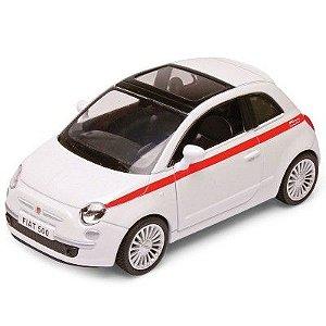 Carrinho Super Marcas Fiat 500 Branco - DTC
