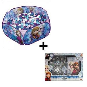 Kit Piscina de Bolinhas Frozen Zippy Toys + Jogo de Beleza Diária Frozen - Toyng