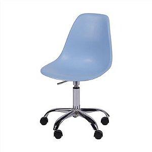 Cadeira Eames DKR Rodízio Azul - Or Design