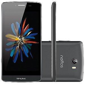 Smartphone TP-LINK Neffos C5, Processador Quad Core, Android 5.1, Tela 5.0´, 16GB, 8MP, 4G, Dual Chip, Desbloqueado Preto/Cinza