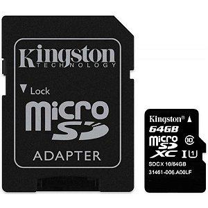 Cartão de Memória Micro SD Kingston 64GB Classe 10 SDC10G2/64GB