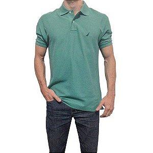 Camisa Polo Nautica Verde Escuro