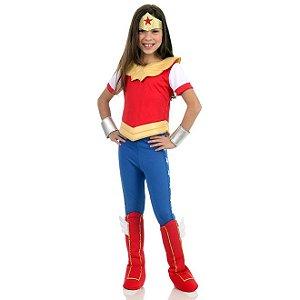 Fantasia Mulher Maravilha DC Super Hero Girls - Sulamericana