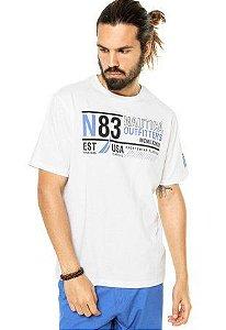 Camiseta Nautica Masculino estampada