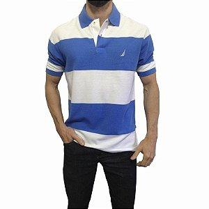 Camisa Polo Nautica Azul e Branco