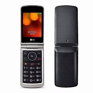 """Celular LG G360 Dual Sim Tela 3.0"""" Câmera, Rádio Fm Preto"""