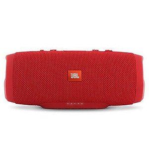 Caixa de Som Portátil Bluetooth JBL Charge 3 Vermelha À Prova d´agua