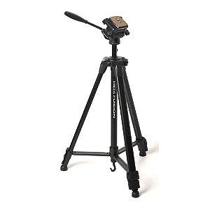 Tripé para câmera ou filmadora com altura até 1,55 m e peso máx. 3,6 Kg - FUSION - Davis & Sanford