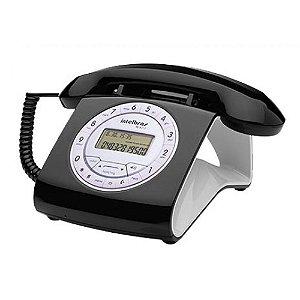 Telefone com fio (retrô), identificador de chamadas e viva-voz preta - TC8312 - Intelbras