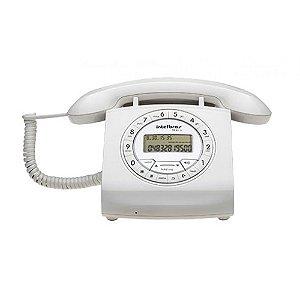 Telefone com fio (retrô), identificador de chamadas e viva-voz branca - TC8312 - Intelbras