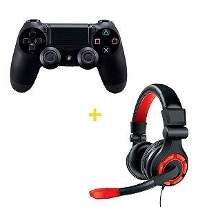 Kit Controle sem Fio para Playstation 4 com Headset Dreamgear - DGUN-2588
