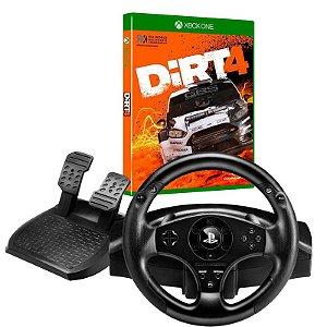Kit Controle Volante T80 para PS3/PS4 Racing Wheel Com Jogo DIRT 4 para Xbox One