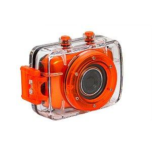 Câmera filmadora de ação HD com caixa estanque e acessórios laranja - DVR783HD - Vivitar