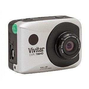 Câmera filmadora de ação Full HD com caixa estanque e acessórios prata - DVR786HD - Vivitar