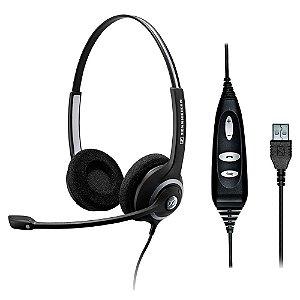 Headset profissional com 2 conchas, controle e conexão USB - SC260USB - Sennheiser