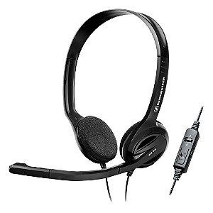 Fone de ouvido tipo headphone com microfone, conector USB, controle 3 em 1 para PC - PC36 - Sennheiser