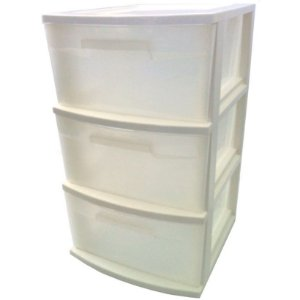 Gaveteiro Médio com 3 Gavetas Grandes Branco - Multbox