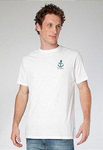 Camiseta Nautica Masculino branca com estampa nas costas