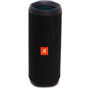 Caixa de Som Portátil Bluetooth Stereo Speaker JBL Flip 4 Preta À Prova d'agua