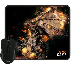 Mouse e Mousepad Gamer OEX Arena - MC102
