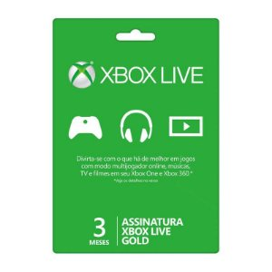 Microsoft Assinatura Xbox Live Gold 3 Meses 2YP-00014