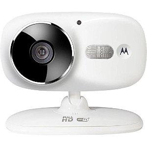 Câmera Motorola Wi-Fi Focus 86, Monit. Smartphone, Hd, Vídeo/Fotos, Sd 8gb, Bi-Volt, Branca