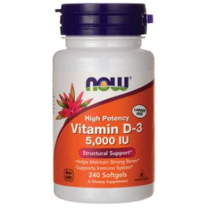 Vitamina D3 5000 IU 120 Softgels - Now Foods