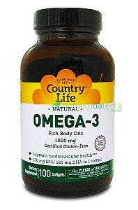 ÔMEGA 3 COUNTRY LIFE 1000MG (100 SOFTGELS)