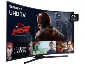 "Samsung Smart TV  49"" UHD 4K Curved KU6300 Series 6"