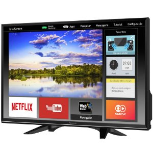 "Smart TV LED 32"" HD Panasonic TC-32ES600B Wi-Fi, 2 USB, 3 HDMI, Media Player, My Home Screen"