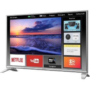 "Smart Tv Led 49"" Panasonic Tc-49es630b Full Hd, Wi-fi, 2 Usb, 3 Hdmi, My Home Screen, Swipe E Share"